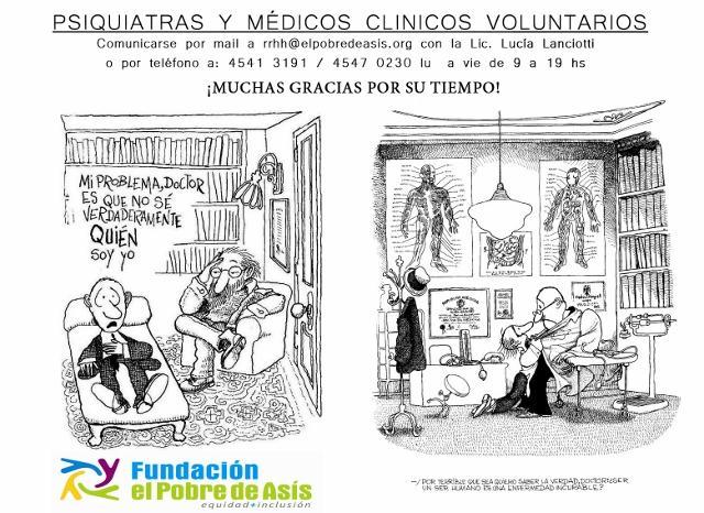 PSIQUIATRAS Y MÉDICOS VOLUNTARIOS
